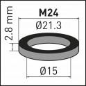 Joint d'aérateur M24 (X 10) - NEOPERL AG : 78133096