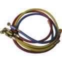 Jeu de 3 flexibles R410A Raccords FF 1/4'' x 5/16'' SAE - GALAXAIR : SA-CT360-410