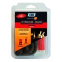 Kit tresse plate en fibre de verre et COLLAFEU L15mm - GEB : 821594