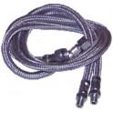 """Flexible fioul M1/2"""" x F1/2"""" droit longueur 800 (X 2)"""