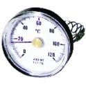 Thermomètre d'applique 0 à 120°C PVC