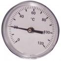 Thermomètre rond plonge axiale 0 à 120°C Ø63mm - DIFF