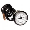 Thermomètre rond 0° à 120°C Ø43mm cap 1500 gainé - DIFF