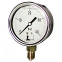 Manomètre radial glycérine 0 à 25b Ø63mm - DIFF