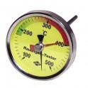 Thermomètre rond de fumée 100 à 500°C - DIFF