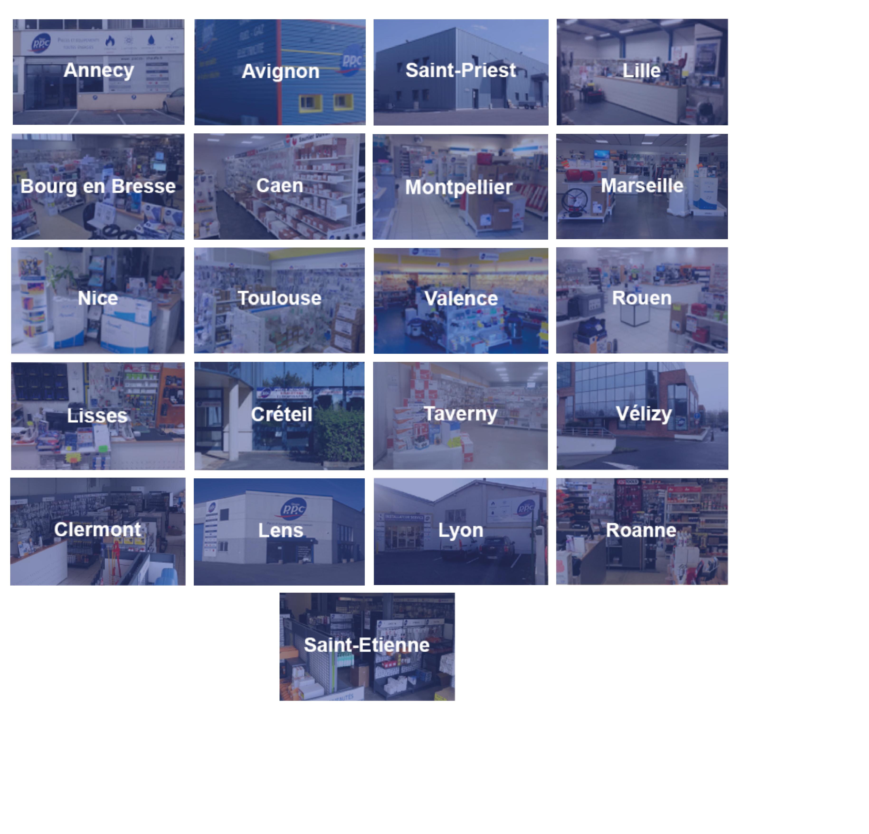 Voici les villes de nos agences disponibles